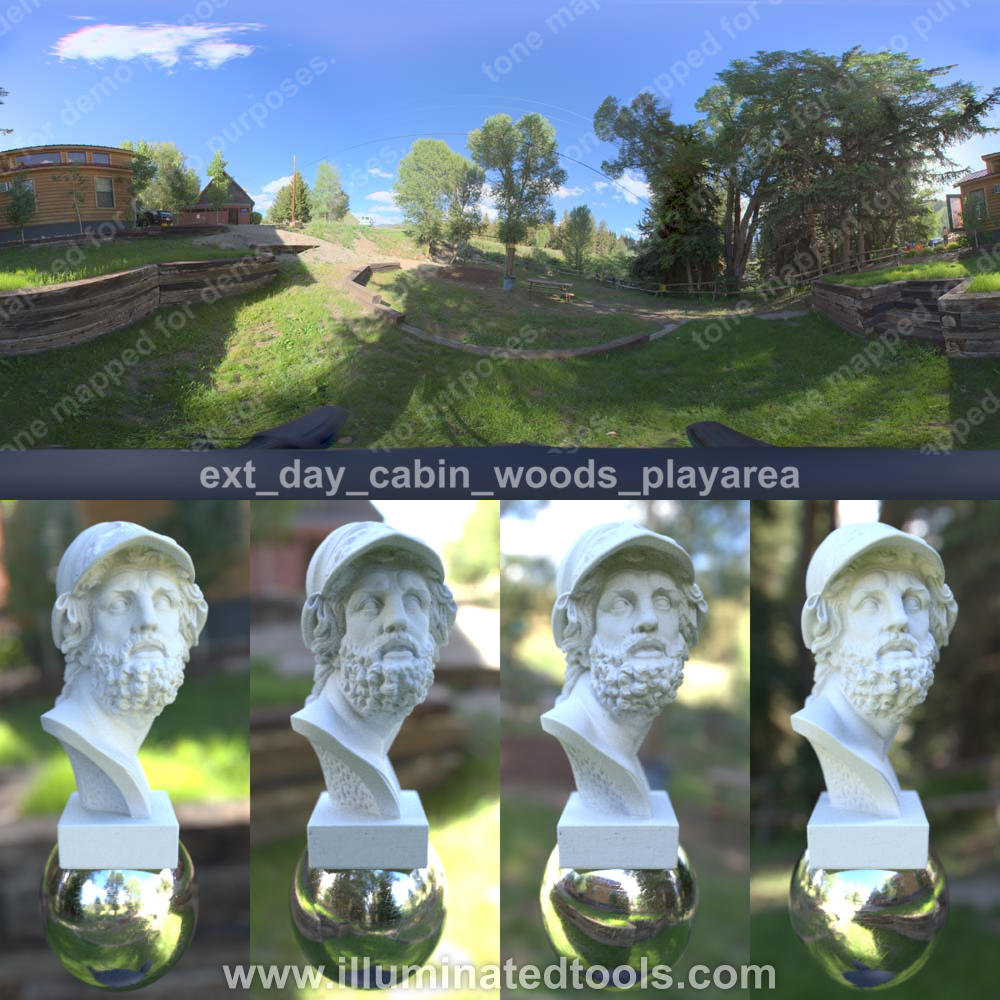 ext day cabin woods playarea