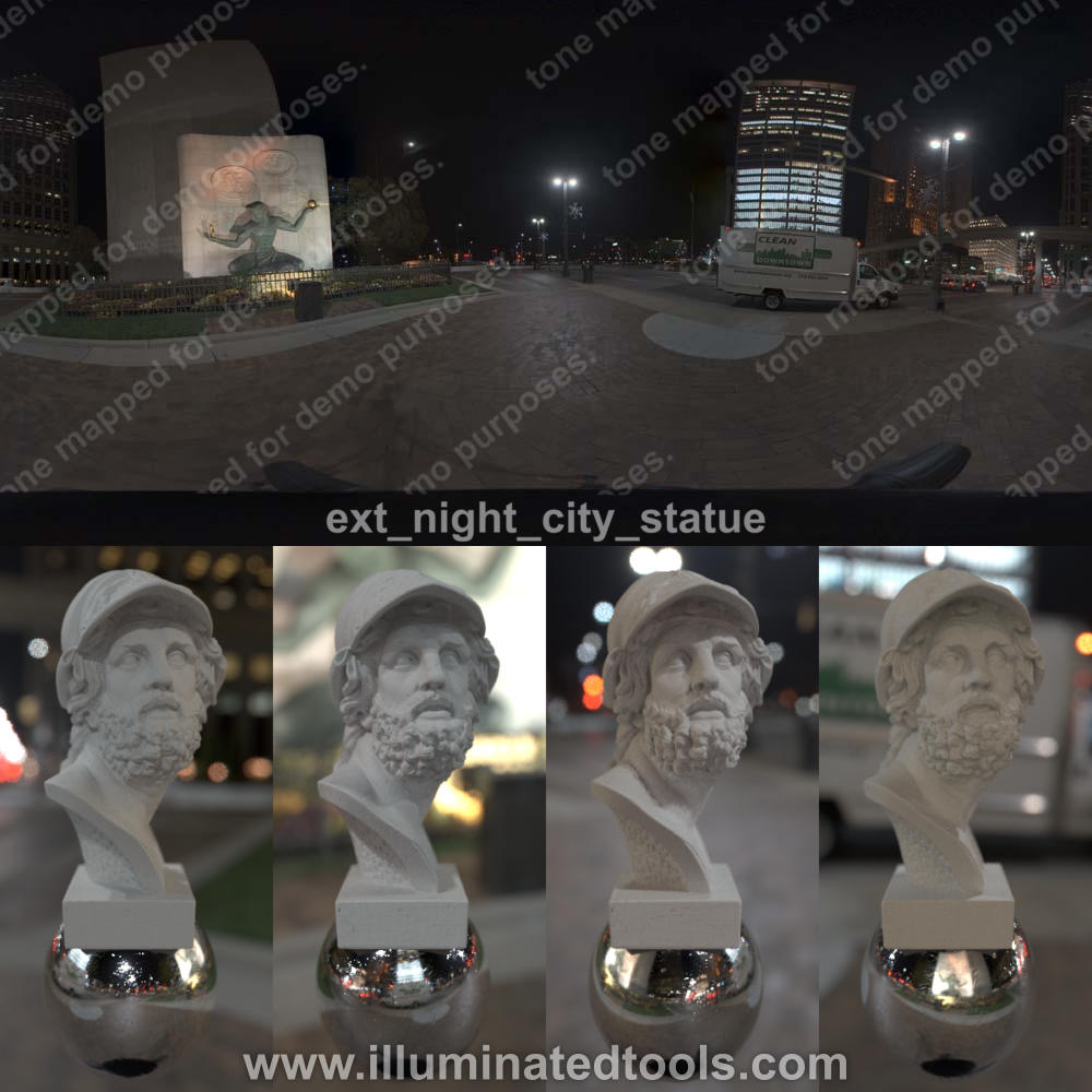 ext night city statue