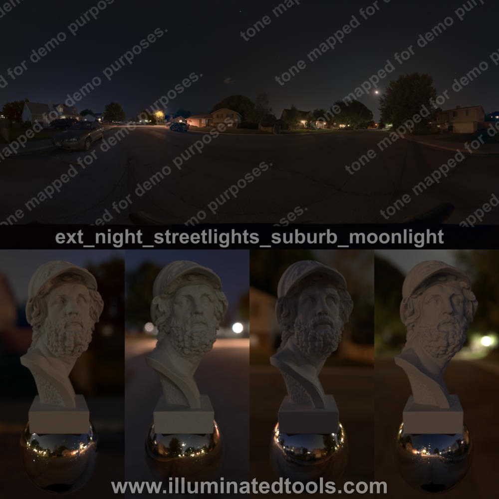 ext night streetlights suburb moonlight