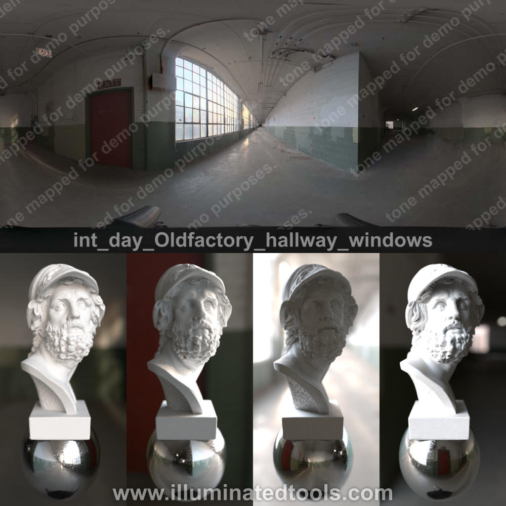 int day Oldfactory hallway windows