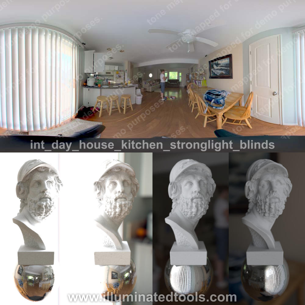 int day house kitchen stronglight blinds