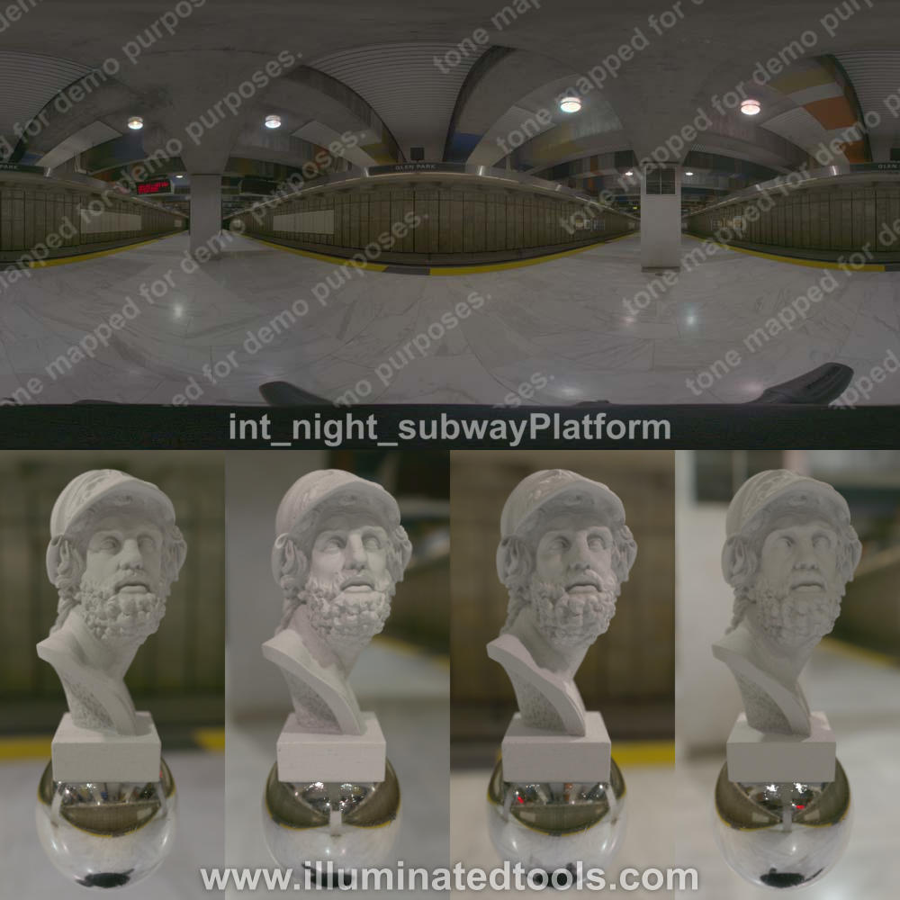 int night subwayPlatform