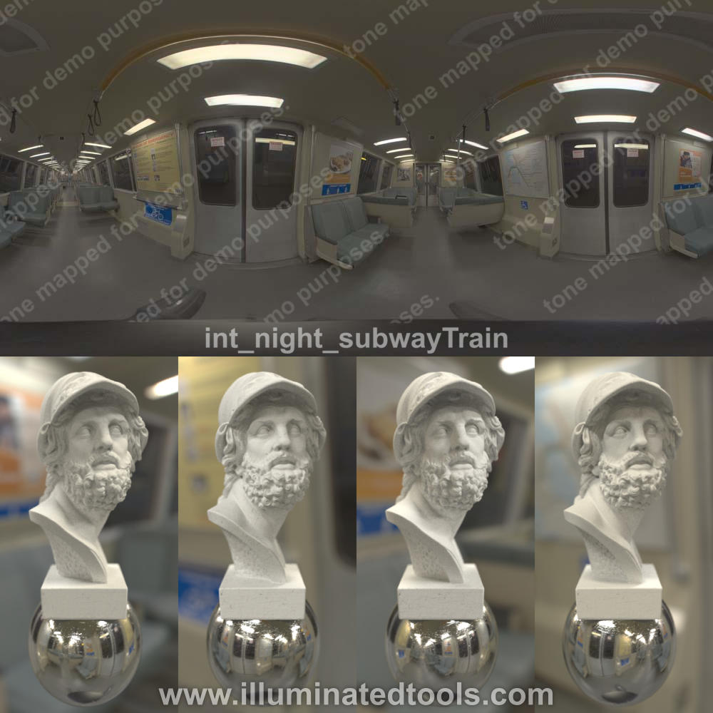 int night subwayTrain