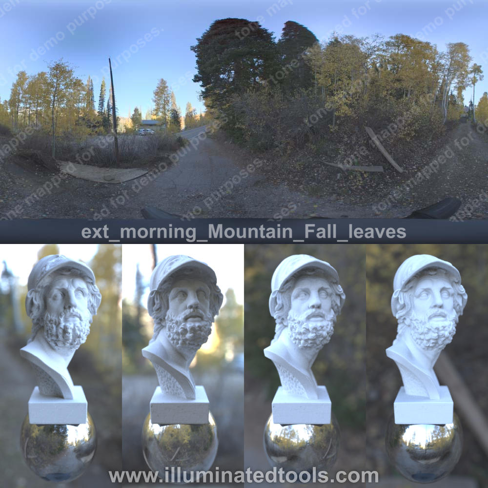 ext morning Mountain Fall leaves
